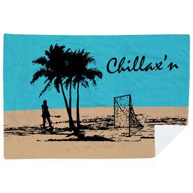 Girls Lacrosse Premium Blanket - Chillax'n