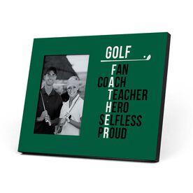Golf Photo Frame - Golf Father Words