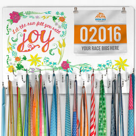 Hooked On Medals Bib & Medal Display Let The Run Fill You With Joy