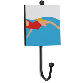 Swimming Medal Hook - Up-close Swimmer Female