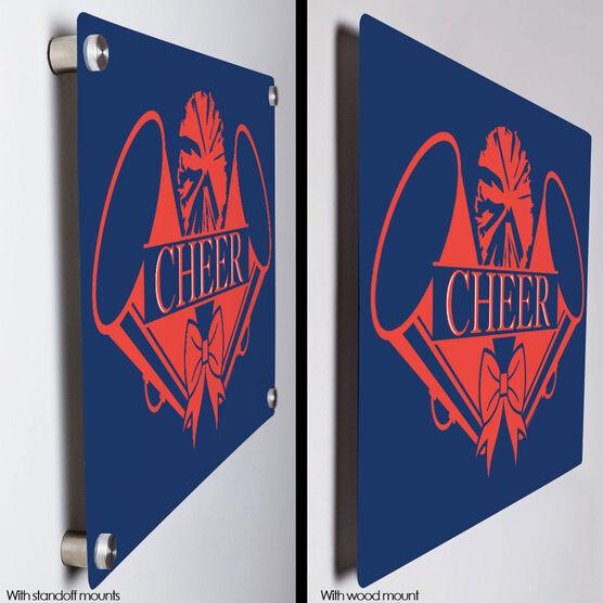 """Cheerleading 18"""" X 12"""" Aluminum Room Sign - Crest"""