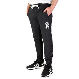 Soccer Men's Joggers - Soccer Ball With Number