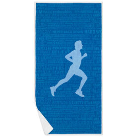 Running Premium Beach Towel - Inspiration Male