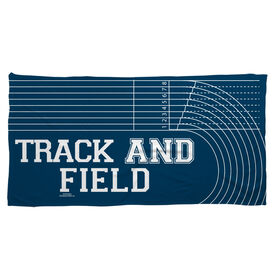 Track and Field Beach Towel Lanes