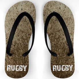 Rugby Flip Flops Playing in the Dirt