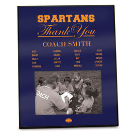 Rugby Photo Frame Thank You Coach Roster