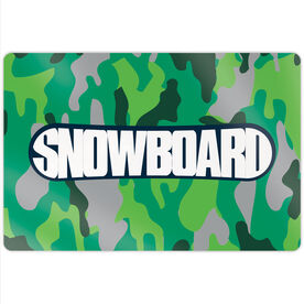 "Snowboarding 18"" X 12"" Aluminum Room Sign - Top Snowboarding"