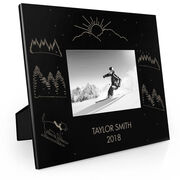 Skiing Engraved Picture Frame - Great Dog Skier