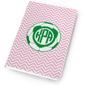 Soccer Notebook - Monogram with Soccer Ball