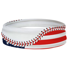 Baseball Multifunctional Headwear - American Flag Ball RokBAND