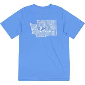 Men's Running Short Sleeve Tech Tee - Washington State Runner
