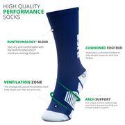 Hockey Woven Mid-Calf Socks - Just Hockey.
