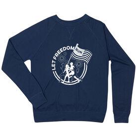 Running Raglan Crew Neck Sweatshirt - Let Freedom Run