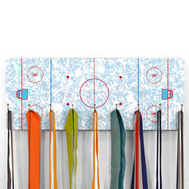 Hockey Hooked on Medals Hanger - Rink