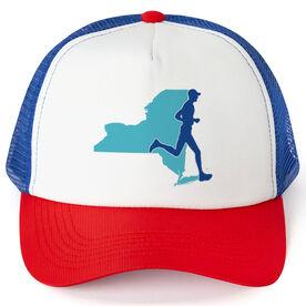 Running Trucker Hat - New York Male Runner