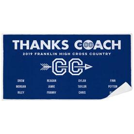 Cross Country Premium Beach Towel - Thanks Coach (Horizontal)