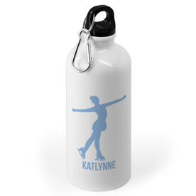 Figure Skating 20 oz. Stainless Steel Water Bottle - Figure Skating Silhouette