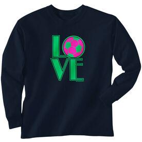 Soccer Tshirt Long Sleeve Love Soccer