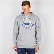 Hockey Sport Lace Sweatshirt - Hockey Crossed Sticks Logo