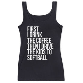 Softball Women's Athletic Tank Top - Then I Drive The Kids To Softball