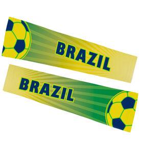 Soccer Printed Arm Sleeves - Soccer Brazil