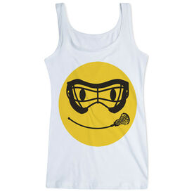 Girls Lacrosse Women's Athletic Tank Top Smiley Face