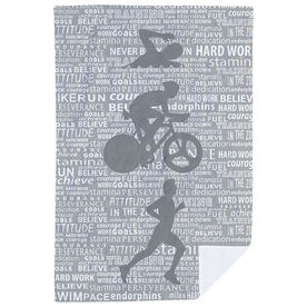 Triathlon Premium Blanket - Swim Bike Run Inspiration Male