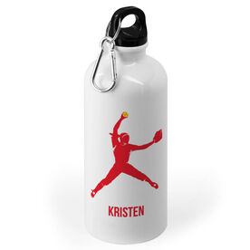 Softball 20 oz. Stainless Steel Water Bottle - Softball Pitcher Silhouette