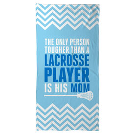 Guys Lacrosse Beach Towel Tougher Than A Lacrosse Player
