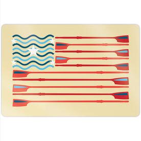 """Crew 18"""" X 12"""" Aluminum Room Sign - Crew American Flag"""