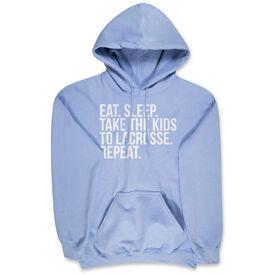 Lacrosse Hooded Sweatshirt - Eat Sleep Take The Kids To Lacrosse