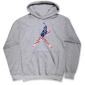 Softball Hooded Sweatshirt - Softball Stars and Stripes Player