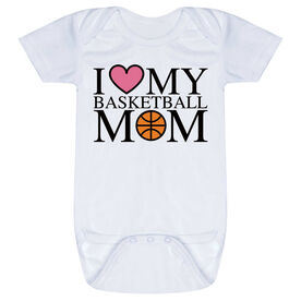 Basketball Baby One-Piece - I Love My Basketball Mom