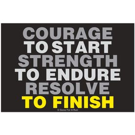 Courage to Start Rectangle Car Magnet
