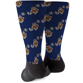 Seams Wild Hockey Printed Mid-Calf Socks - Feather Shot (Pattern)