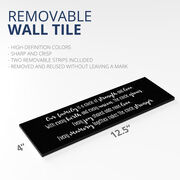 """12.5"""" X 4"""" Removable Wall Tile - Our Family"""