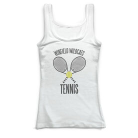 Tennis Vintage Fitted Tank Top - Personalized Team