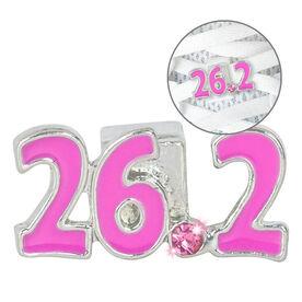 LaceBLING Shoelace Charm - 26.2 Marathon (Pink)