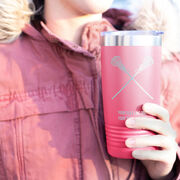 Girls Lacrosse 20 oz. Double Insulated Tumbler - Crossed Sticks Icon