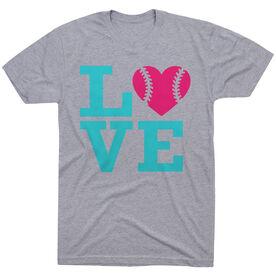 Softball T-Shirt Short Sleeve Love