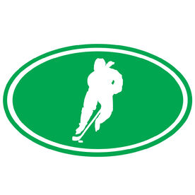 Hockey Girl Silhouette Vinyl Decal
