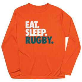 Rugby Long Sleeve Performance Tee - Eat. Sleep. Rugby.