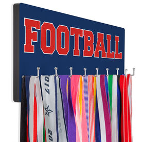 Football Hooked on Medals Hanger - Word