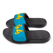 Softball Repwell® Slide Sandals - Softball Number Stitches