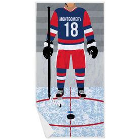 Hockey Premium Beach Towel - Hockey Player