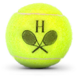 Personalized Tennis Ball - Initial With Rackets