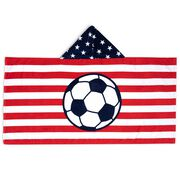 Soccer Hooded Towel - American Flag