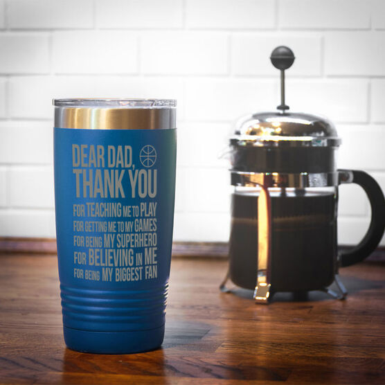 Basketball 20 oz. Double Insulated Tumbler - Dear Dad