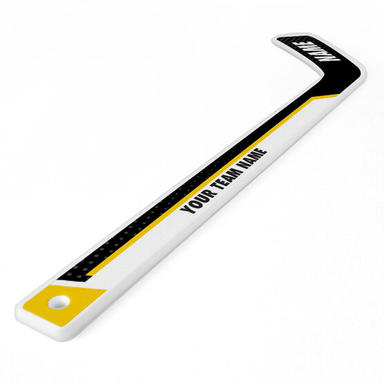 Personalized Knee Hockey Player Stick 2 Tone Playmaker