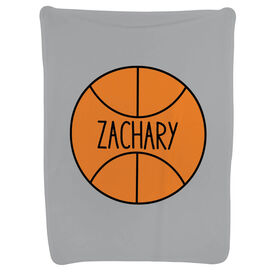 Basketball Baby Blanket - Personalized Basketball